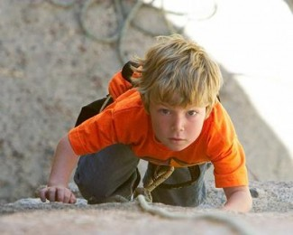 Rock Climbing Boy