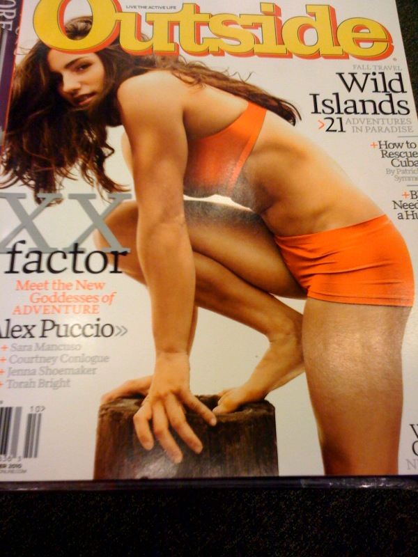 Alex Puccio Cover of Climbing Magazine